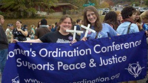 Former WOC Board Member, Aileen Hayes, and WOC Assistant Director, Kate Conmy in 2011