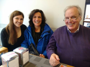 Jacqueline, a fellow parishioner, and her priest visiting Rome from Austria