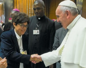 Sr. Carmen Sammut and Pope Francis