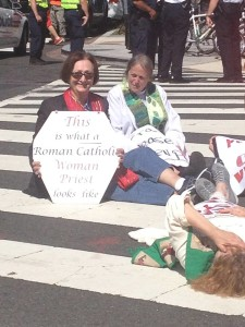 Action for women's ordination in September 2015 in Washington, DC