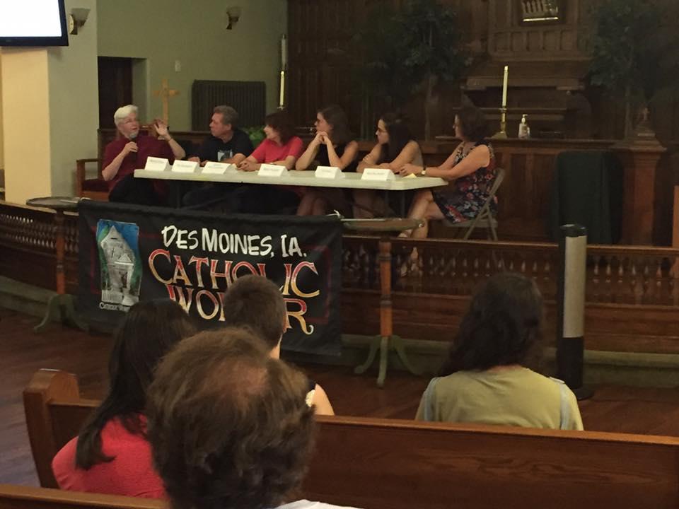 "Board Member, Marion Flynn moderating the panel: ""More Listening, Less Judging: Imagining a Church of Gender Justice"""