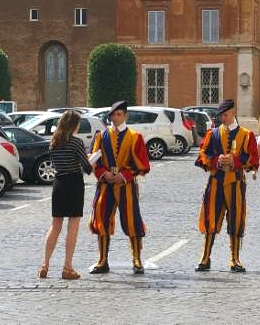 Kate delivering the petition to the Vatican